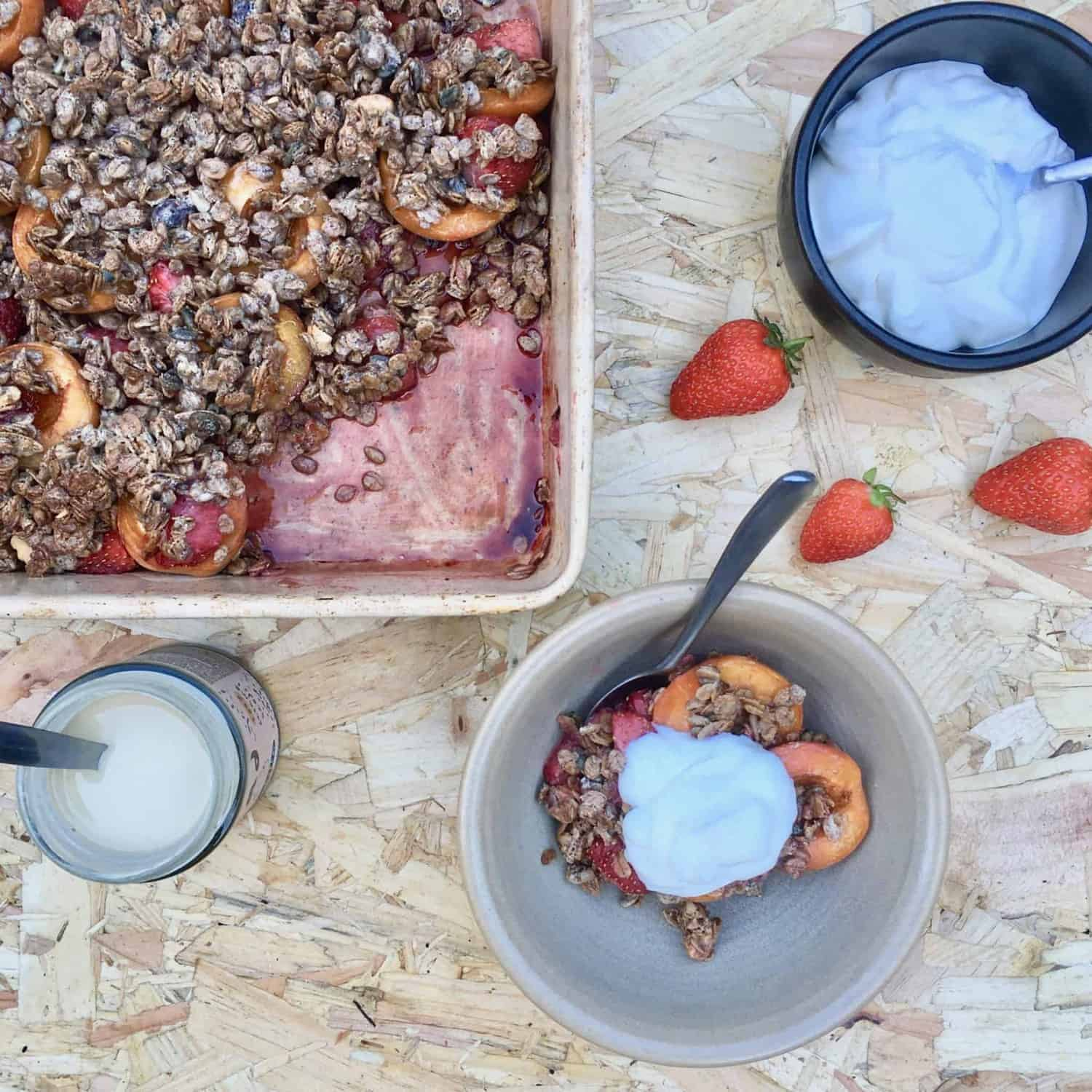 Apricot and Strawberry Crumble Recipe